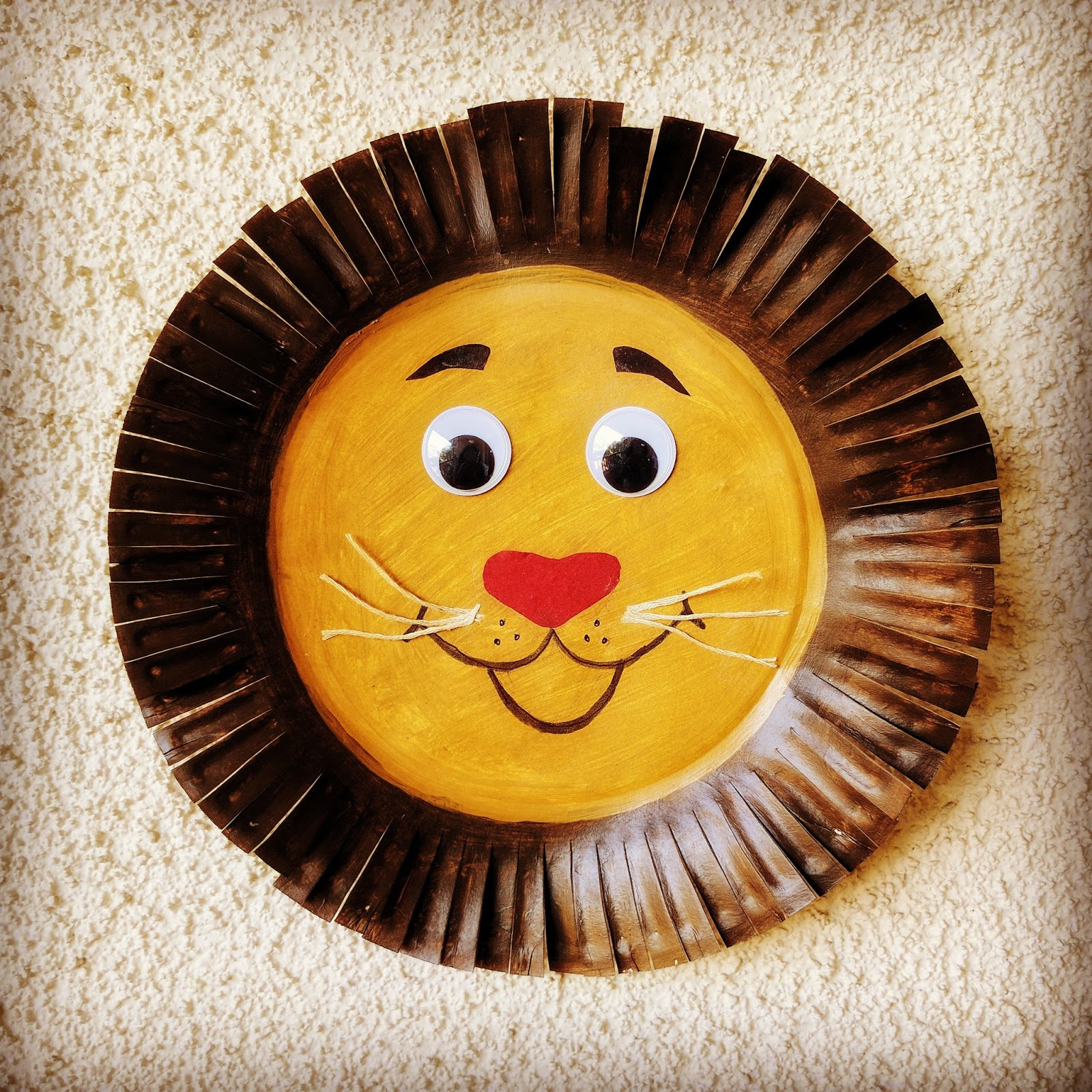 Paper Plate Lion Craft & The Joy of Sharing: Paper Plate Lion Craft