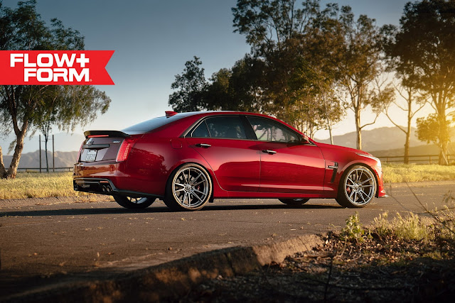 Cadillac CTS-V in Liquorice Red Caddy on HRE Wheels - #Cadillac #CTS #Liquorice #Red #Caddy #HRE #Wheels #tuning