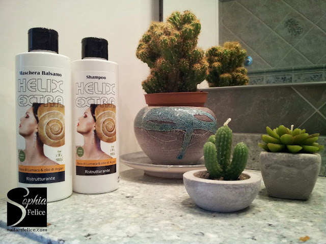 Helix Extra Shampoo Ristrutturante ed Helix Extra Maschera Balsamo Ristrutturante 03