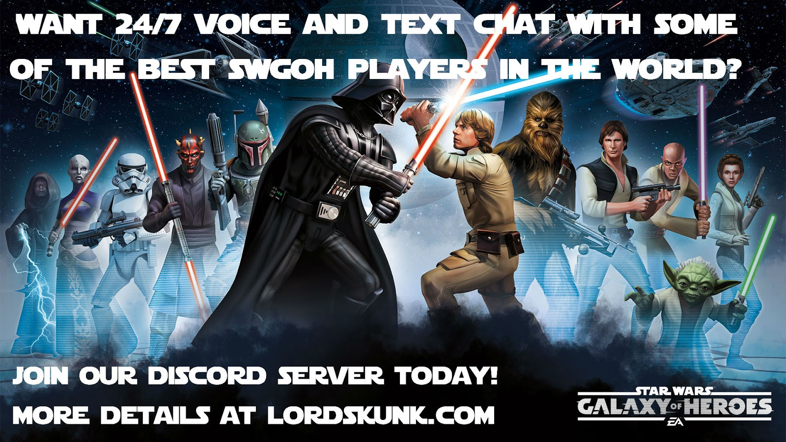 Star Wars: Galaxy of Heroes Blog: LordSkunk com Discord Server