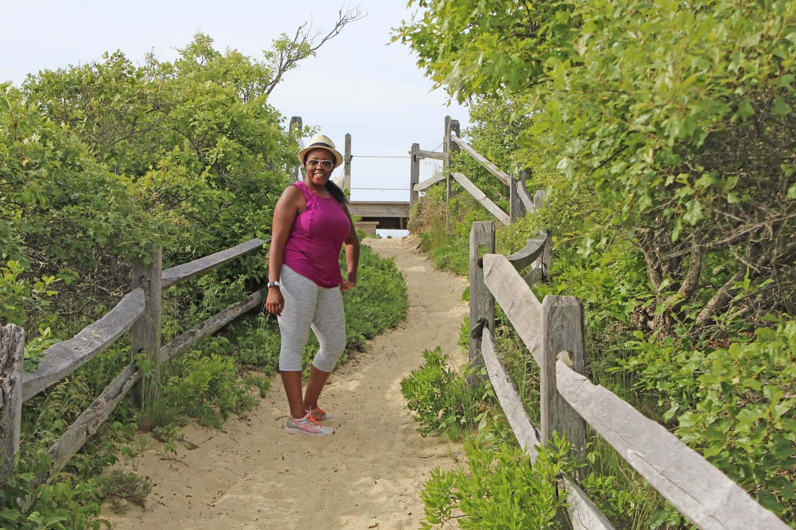 hiking to a secluded beach 3