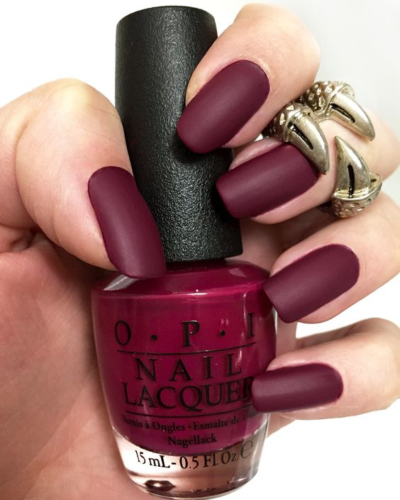 geeks fashion: Matte Nail Polish Designs that will wow you