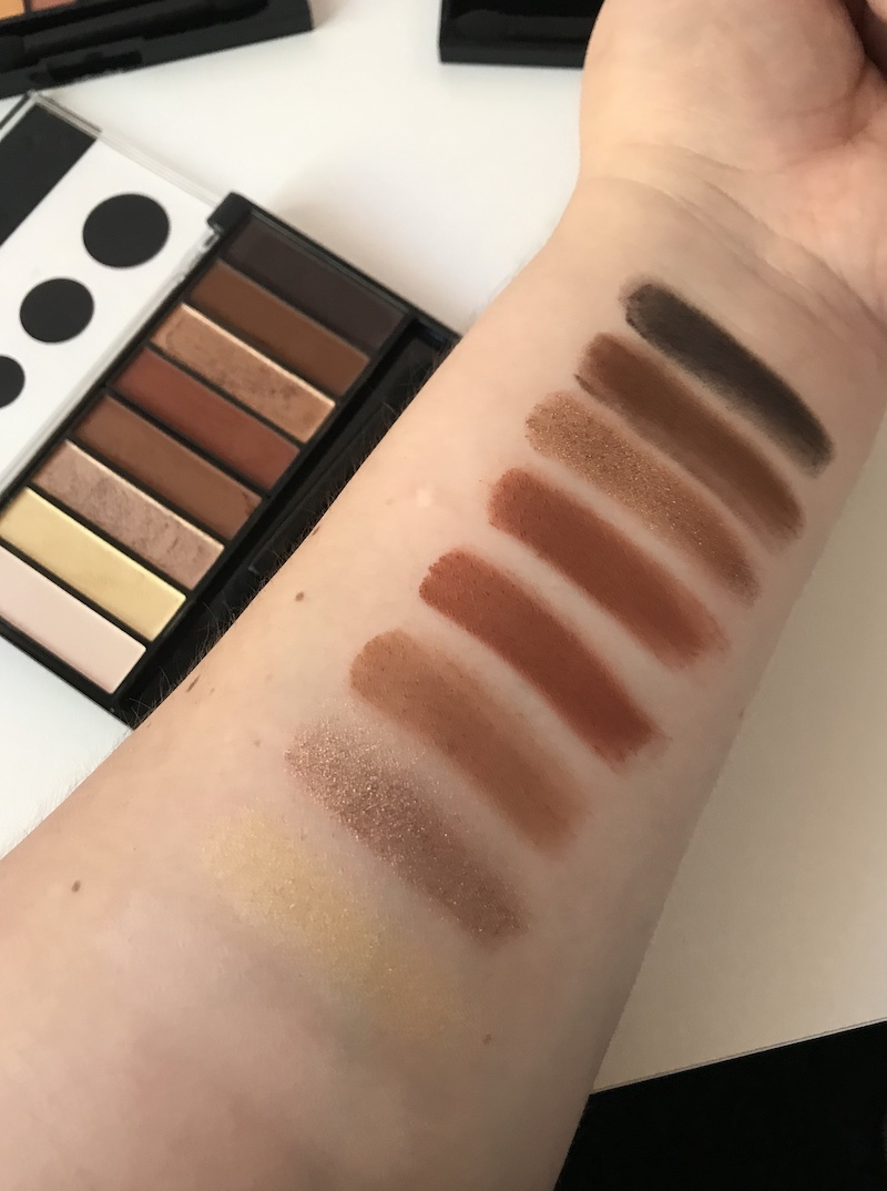 Swatches of the Cover Girl Full Spectrum Eyeshadow Palettes