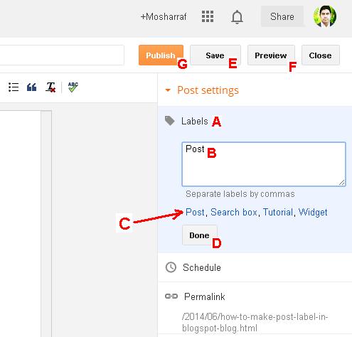 Tips to customize blogspt blog label, tag, categories