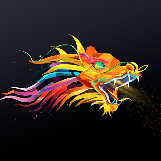 Abstract Fire Dragon Wallpaper Engine