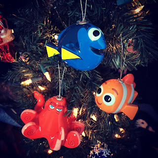 finding dory hallmark decoupage ornaments