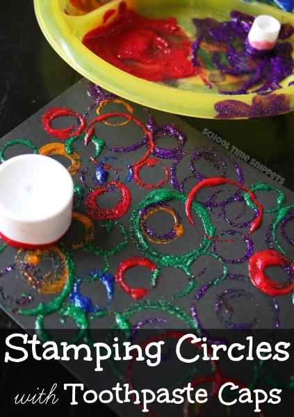 circles process art for preschoolers