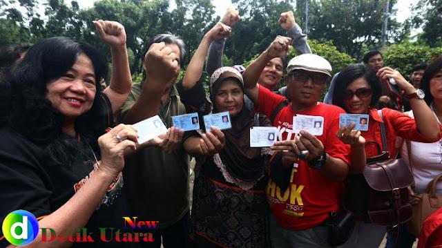 1.500 Pemilik KTP Ajukan Ahok Jadi Tahanan Kota, Pendukung: Jangan Usir Kami Pak