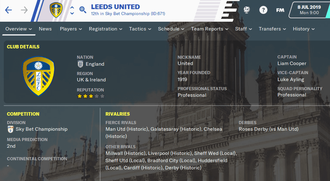 FM20 Team Guide - Leeds United