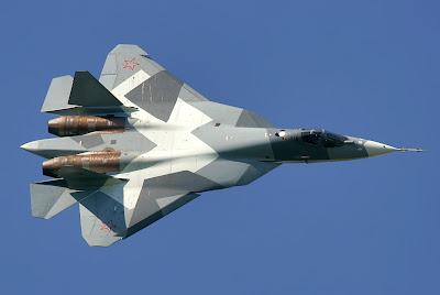 Jet Tempur Rusia T-50 PAK-FA