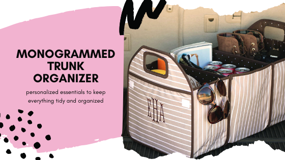 monogrammed trunk organizer