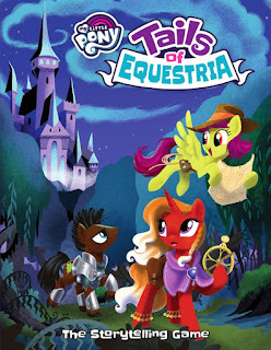 Tails of Equestria book, showing front cover with adventuring ponies