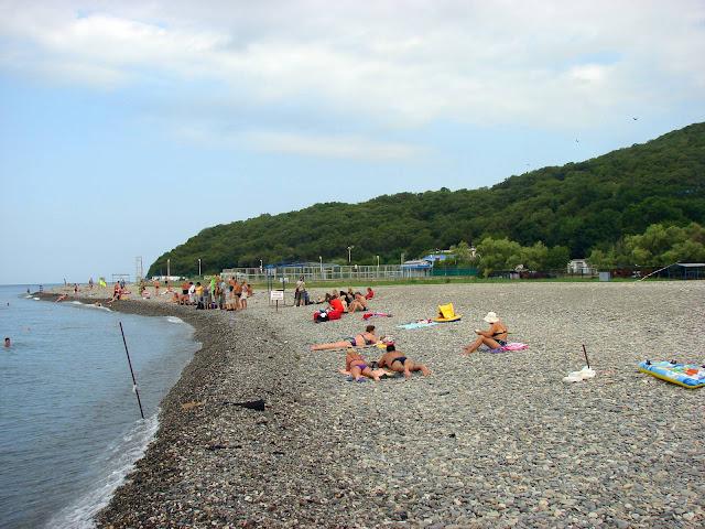 Кемпинги Краснодарского края - пляж в Кринице