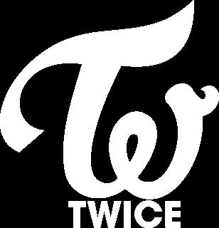 TWICE Logo ロゴ(白バージョン)