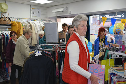 Customers in Cats Protection's Southend shop