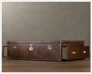Restoration Hardware Mayfair Steamer Trunks Vintage Cigar