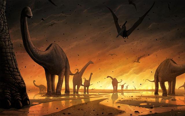 Antara ratusan hingga puluhan juta tahun yang kemudian Penyebab Punahnya Dinosaurus Ternyata Bukan Cuma Gara-Gara Meteor