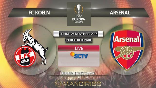 Arsenal akan bertandang ke markas FC Koln pada matchday ke Berita Terhangat Prediksi Bola : FC Koln Vs Arsenal , Jumat 24 November 2017 Pukul 01.00 WIB @ SCTV