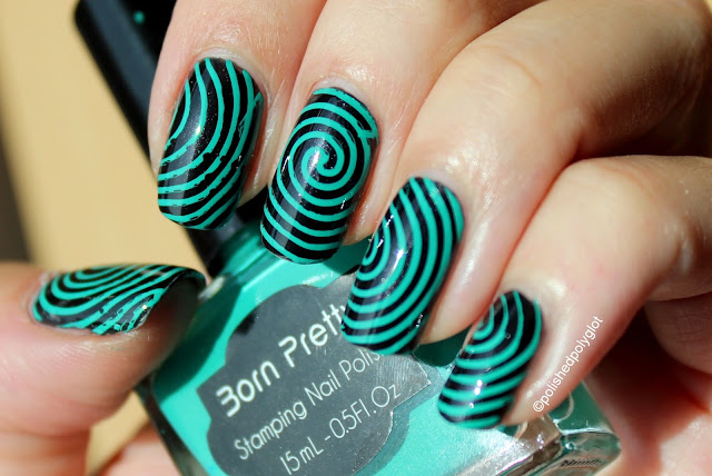 Green Stamping nail polish from Born Pretty Store