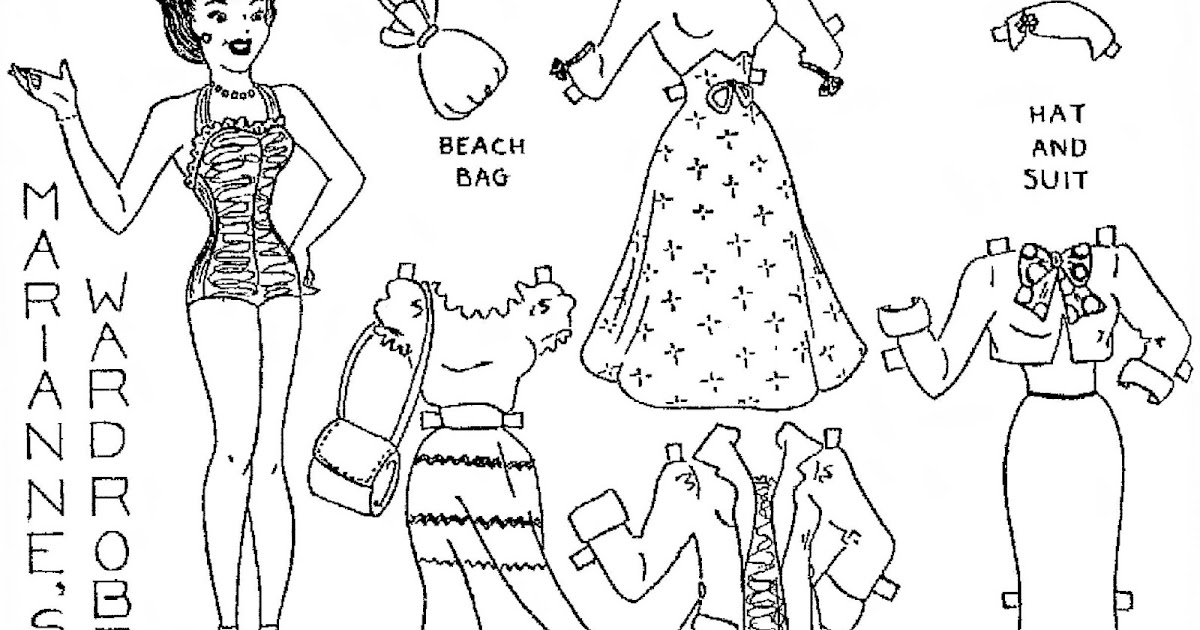 Mostly Paper Dolls Too!: Paper Dolls From 1950 by Aunt