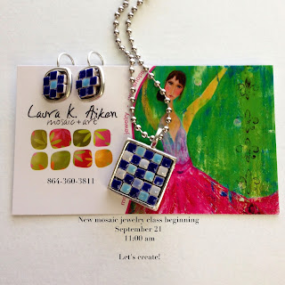 Mosaic Jewelry Class by Laura K Aiken