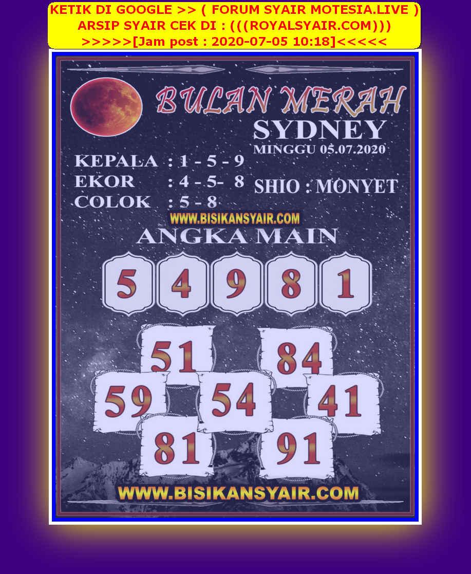 Kode syair Sydney Minggu 5 Juli 2020 160