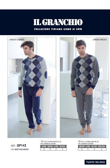 piżama_męska_włoska_bielizna_Ilgranchio_rzymskie_zakupy