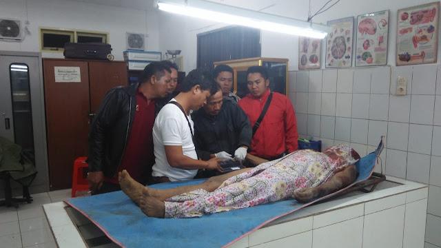Mayat pria yang ditemukan di kebun kelapa sawit di Simalungun