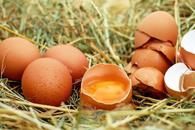 telur ayam, mentah