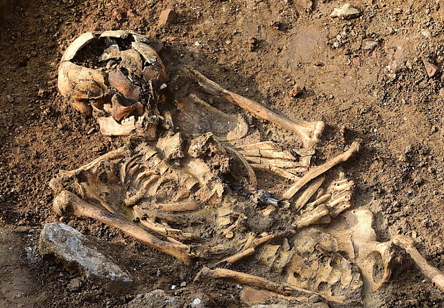 Byzantine-era fountain, 1,000-year-old skeleton found in Istanbul