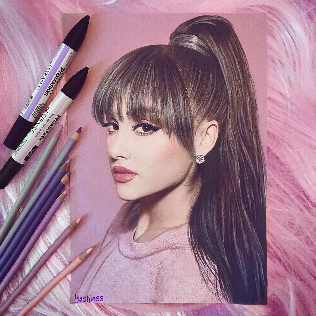02-Ariana-Grande-Vlad-Yashin-Realistic-Color-Pencil-Portraits-of-Celebrities-www-designstack-co