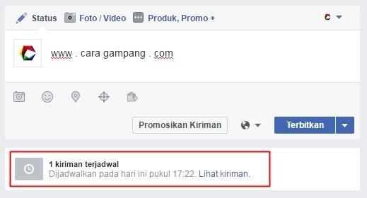 cara mengatur waktu posting di fanspage facebook
