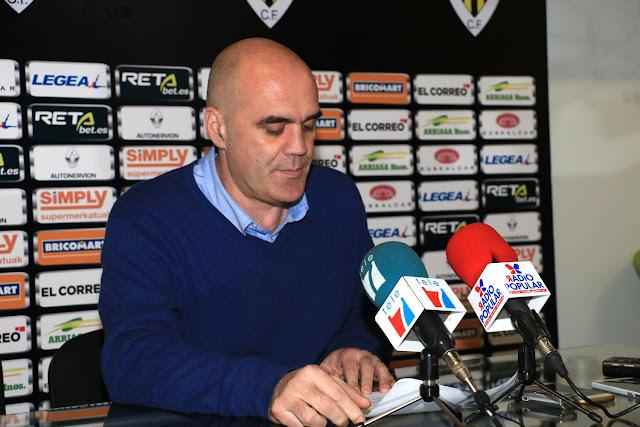 El presidente del Barakaldo CF, Orlando Sáiz