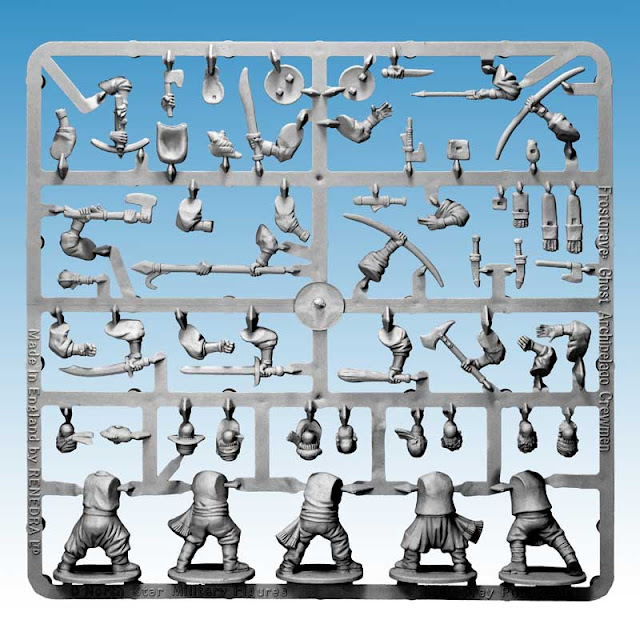 Northstar Miniatures: Frostgrave - Ghost Archipelago Plastic Heritor's Crew Sprue Preview