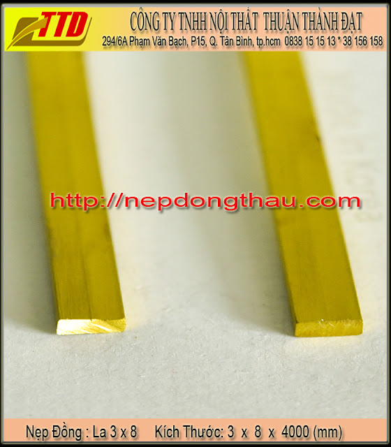 nẹp cầu thang la 3 x 8 mm