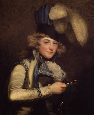 Mrs Jordan as Hypolita in 'She Would and She Would Not' by John Hoppner, 1791