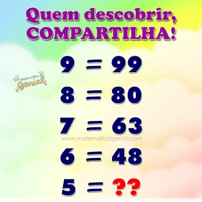 Desafio: Que número equivale a 5?