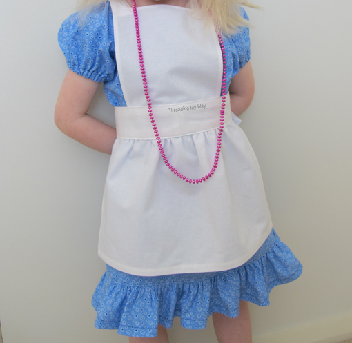 Alice in Wonderland Apron Tutorial | Spectacular DIY Kids Tea Party Ideas | tea party ideas for kids