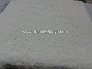 Mukesh work chikankari dress material