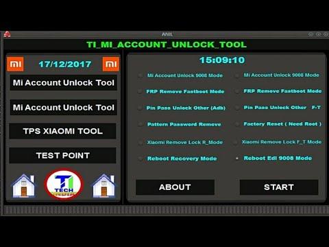 البرنامج الاحترافى لشاومى Mi Account Unlock Tool 2017