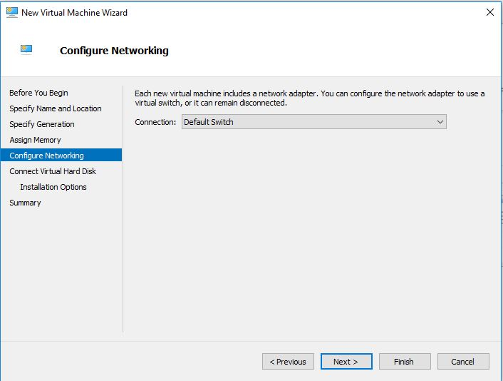 configure the network virtual machine