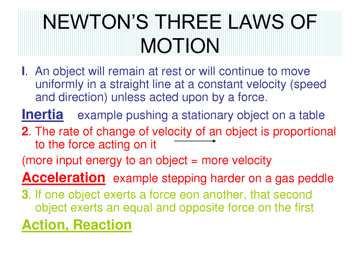 6th Grade Science 4th Six Weeks Wk 4 Newtons 3 Laws Of