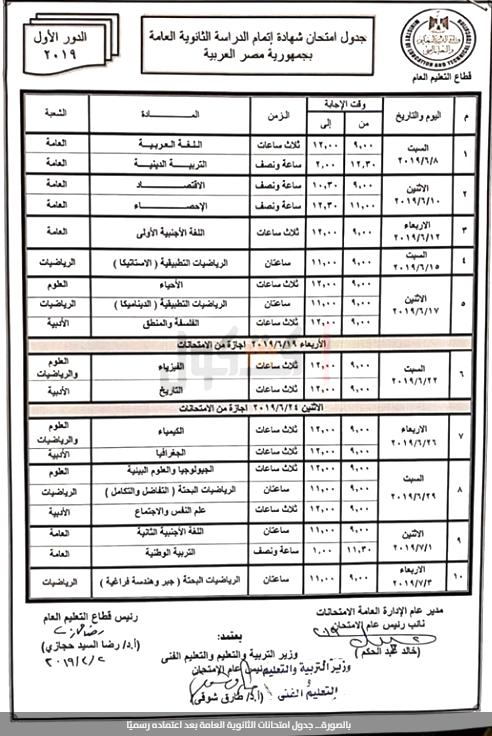 موعد بدء امتحانات الترم الثاني 2019 للنقل والشهادات