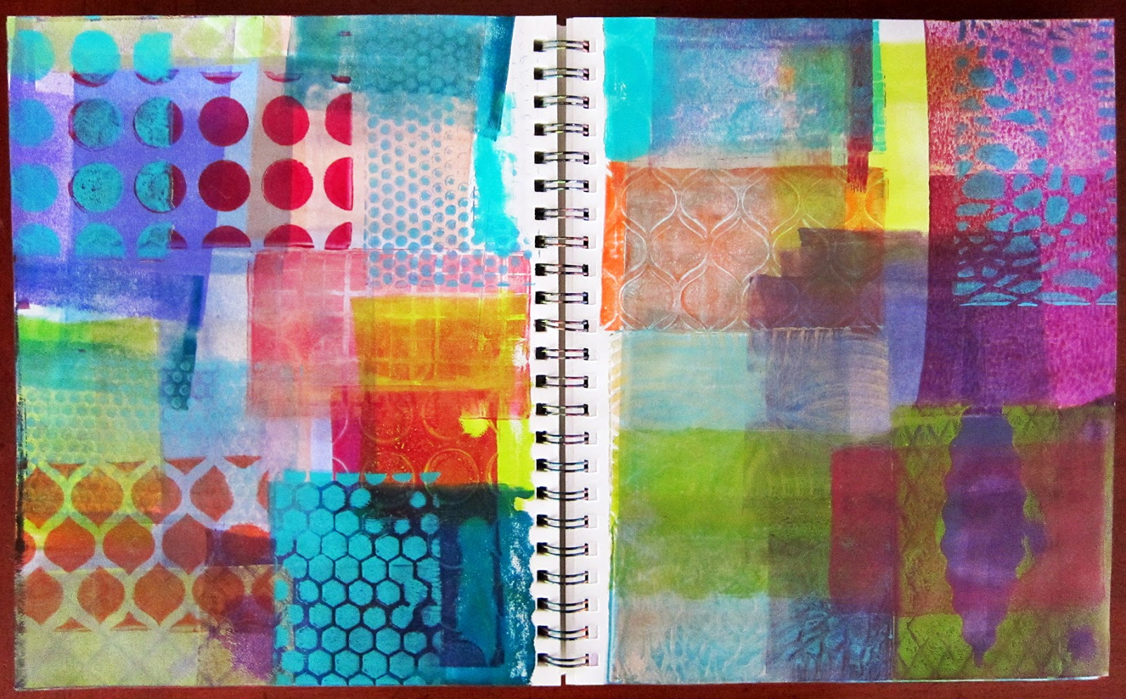 Printing With Gelli Arts 174 Stamping With Gelli Plates