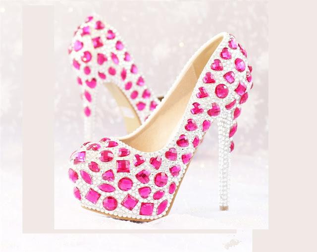Sapato rosa  para debutante, site Elo 7