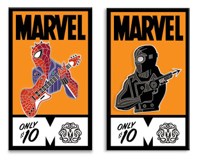 Spider-Man: Into the Spider-Verse Bust'd Enamel Pins by Tom Whalen x Mondo