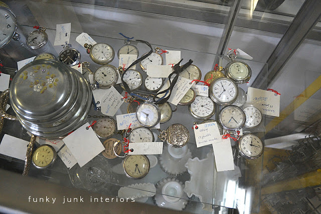 Antique watches / Junkin' day at Granny and Grumpa's Antiques in Abbotsford, BC via FunkyJunkInteriors.net