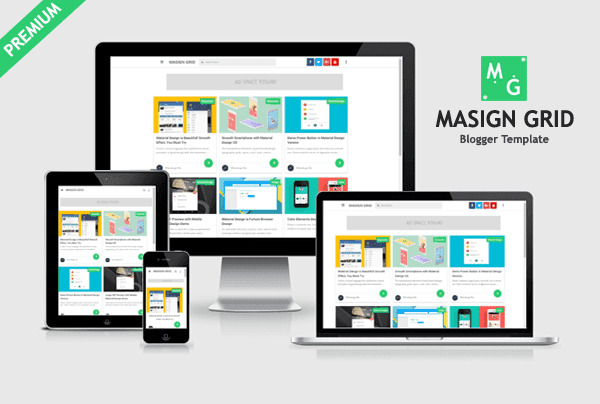 Masign Grid - Premium Blogger Template