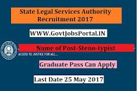 State Legal Services Authority Recruitment 2017–Steno-typist