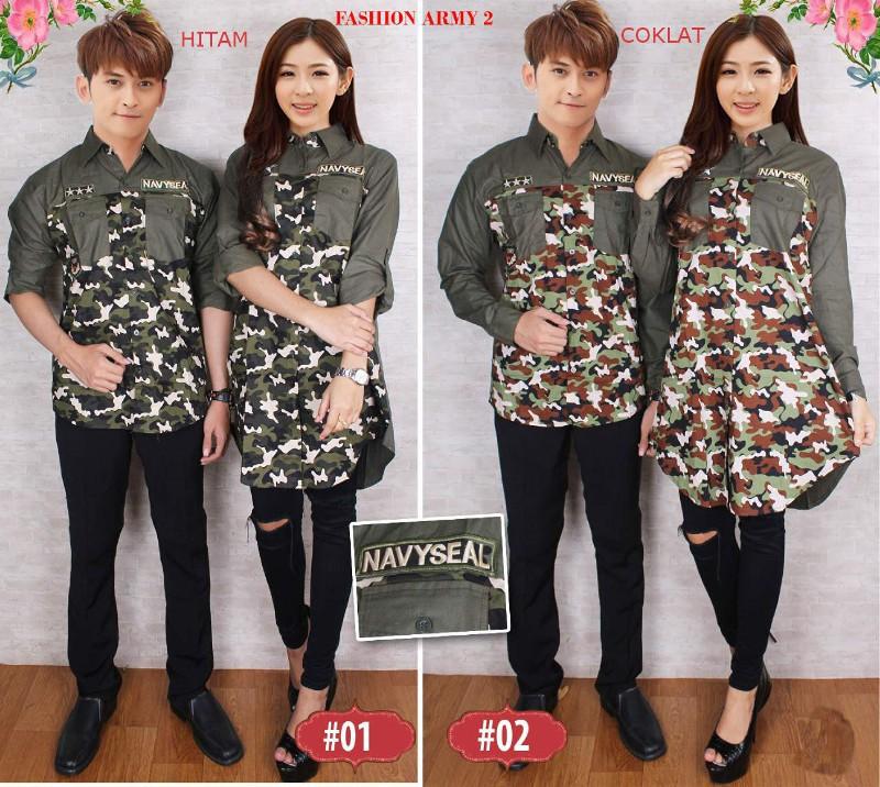 Jual Online Fashion Army 2 Couple Murah Jakarta Bahan Katun Terbaru